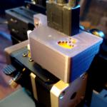 close up of a 3D printer extruder