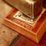 thumbnail image showing a 3D printed molding at the base of a door hinge
