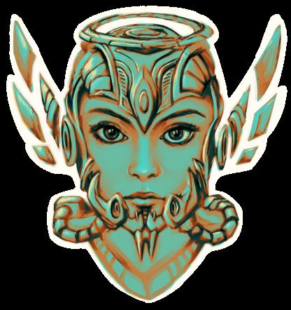 Metal Lady sticker